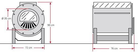 Zeichnung Bruno Techno 14,5 KW