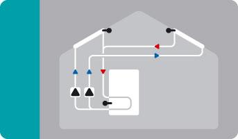 Hydraulikvariante 2 x Solar mit 2 Zirkulationspumpen