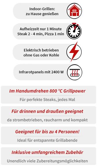 Asteus Willy Infrarot Elektro Grill
