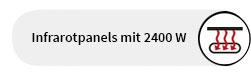 Infrarotpanels mit 2400 W