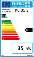 Kohle-Holzvergaserkessel Atmos KC 35 S - Energielabel