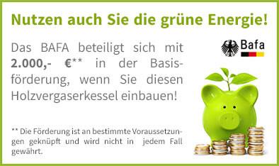 BAFA Förderung für Atmos Holzvergaserkessel GSE Serie