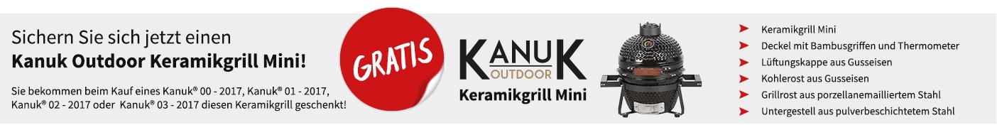 Erhalten Sie einen Kanuk Outdoor Keramikgrill Mini gratis zu Ihrer Bestellung!