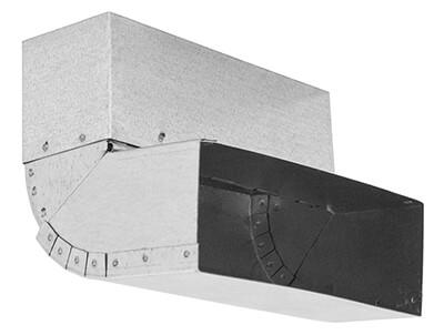 Flachkanal-Bogen 150 x 50 mm