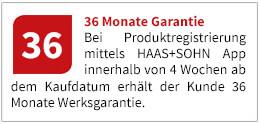 Verlängern Sie Ihre Haas+Sohn Garantie