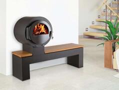 gem tlichen kamin mit sitzbank finden auf. Black Bedroom Furniture Sets. Home Design Ideas