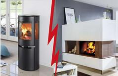 ofen im kamin integriert wohn design. Black Bedroom Furniture Sets. Home Design Ideas