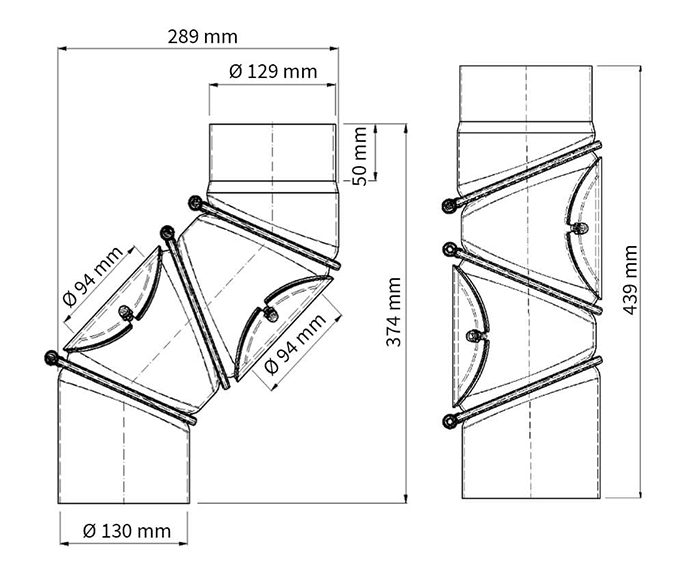 Multibogen 130 mm