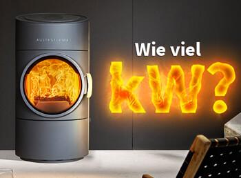Wie viel kW sollte ein Kaminofen haben?