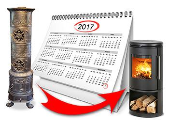 Die Schonfrist endet: Ende 2017 muss so manch alter Ofen ausgetauscht werden