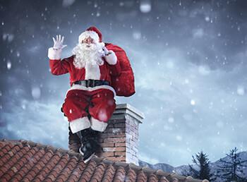 Warum kommt der Weihnachtsmann durch den Schornstein?