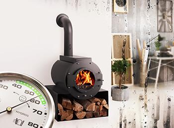 Wie Sie mit einem Kaminofen die Luftfeuchtigkeit in Wohnräumen senken