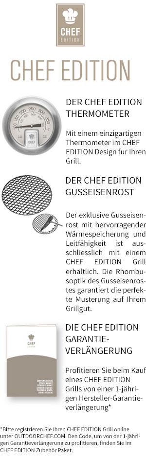 Outdoorchef P-420 G Minichef + Chef Edition Vorteile