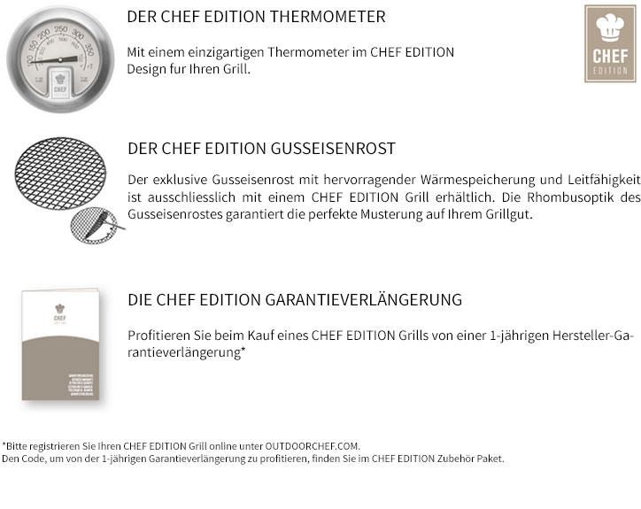 Outdoorchef P-480 G Compactchef Chef Edition Vorteile