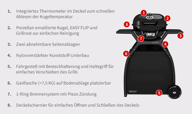 Outdoorchef P-420 G Minichef + Station Gasgrill