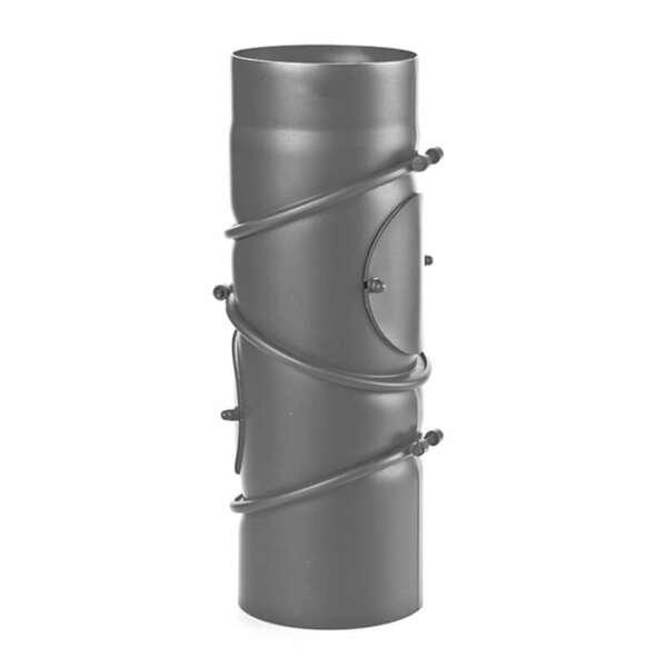 ø 120 mm Bogen 90° mit Revisionsöffnung Edelstahl Schornstein 180 mm