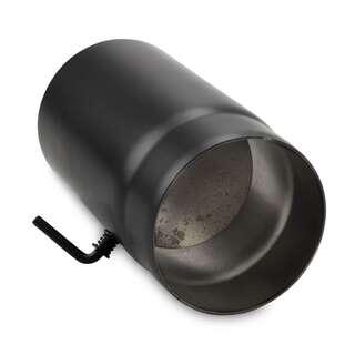 150 mm tube droit 25 cm avec cl de tirage noir. Black Bedroom Furniture Sets. Home Design Ideas