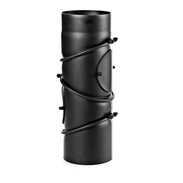 180 mm ofenrohr multibogen schwarz. Black Bedroom Furniture Sets. Home Design Ideas