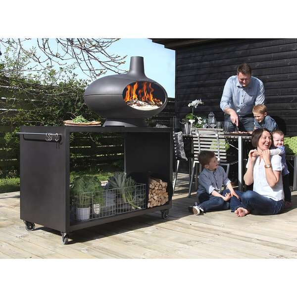 morsoe forno garden grill aus gusseisen mit zubeh r. Black Bedroom Furniture Sets. Home Design Ideas