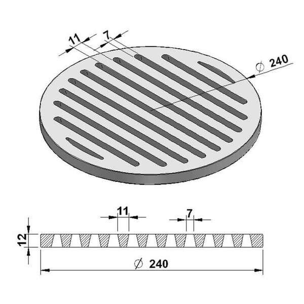 grille de cendres ronde 24 cm chez. Black Bedroom Furniture Sets. Home Design Ideas