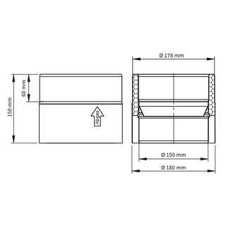 ofenrohr doppelw l ngenelement 150mm mit kondensatring finden bei. Black Bedroom Furniture Sets. Home Design Ideas