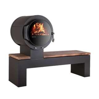 kaminofen ehv bank mit eleganter sitzbank aus holz. Black Bedroom Furniture Sets. Home Design Ideas