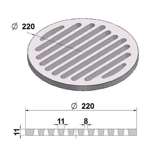 grille de cendres ronde 22 cm chez chez. Black Bedroom Furniture Sets. Home Design Ideas
