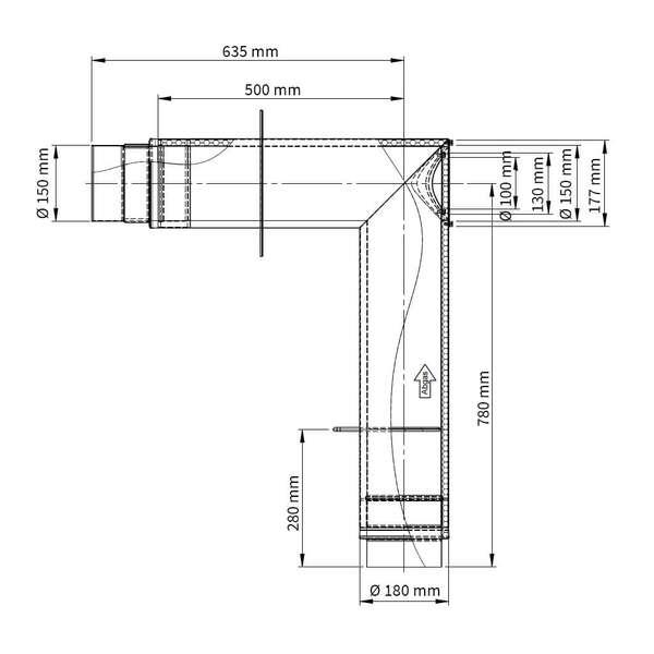 ofenrohr doppelwandiger winkel 90 set. Black Bedroom Furniture Sets. Home Design Ideas