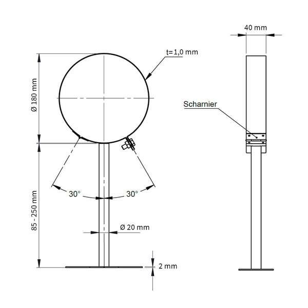 ofenrohr doppelwandig wandhalter 250mm jeremias. Black Bedroom Furniture Sets. Home Design Ideas