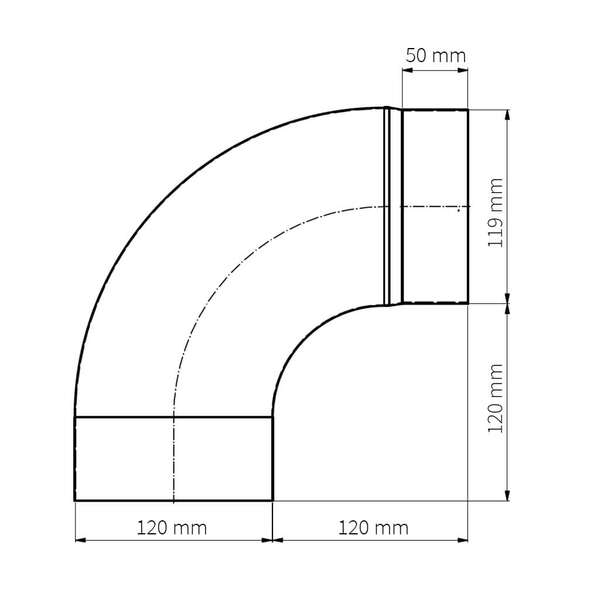 ofenrohr bogen glatt 90 emailliert 100 mm 120 mm. Black Bedroom Furniture Sets. Home Design Ideas