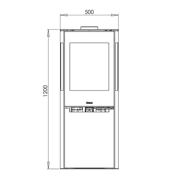 kaminofen aduro 9 5 lux air 6 kw kaufen bei. Black Bedroom Furniture Sets. Home Design Ideas