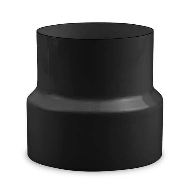 ofenrohr reduzierung 150 auf 120 schwarz braun wei. Black Bedroom Furniture Sets. Home Design Ideas