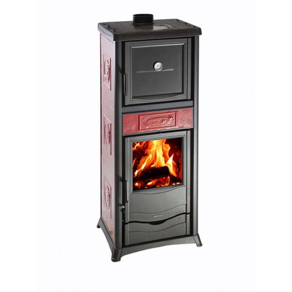 Kaminofen La Nordica Rossella Plus Forno Evo Liberty Bordeaux