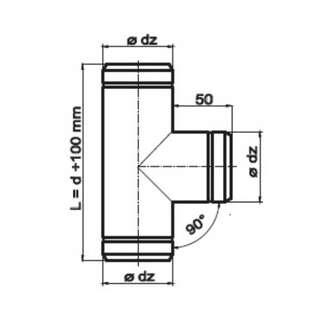 Unterschiedlich Lüftungsrohr 100mm   bei ofenseite.com CP75