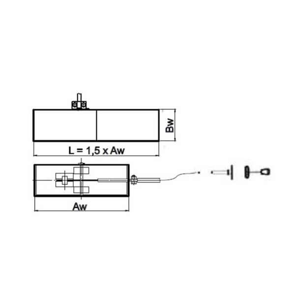 /Ø 120 mm Luftklappe mit Bowdenzug mit Silikondichtung zur Fernbedienung der Klappenstellung