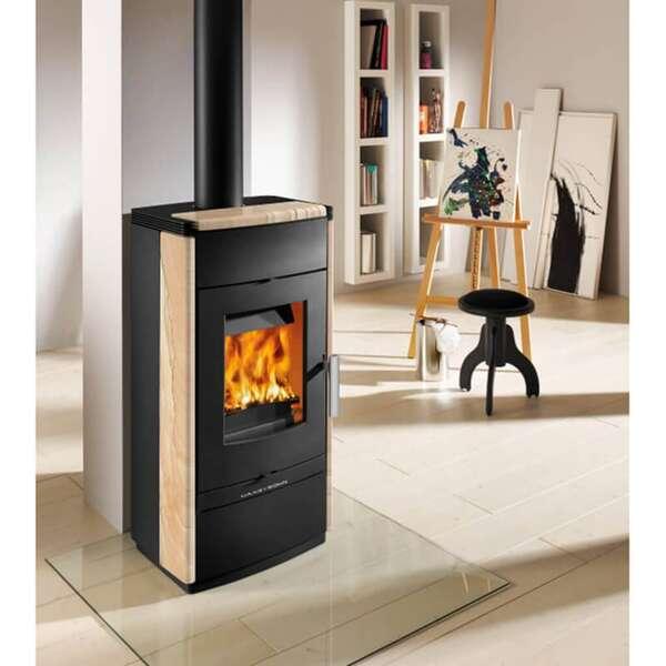 kaminofen haas sohn montegrotto ii schwarz woodstone. Black Bedroom Furniture Sets. Home Design Ideas