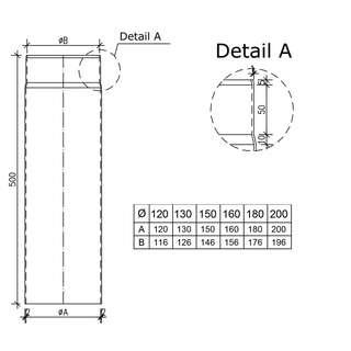 Extremely Ofenrohr 150 mm finden | bei ofenseite.com UR45
