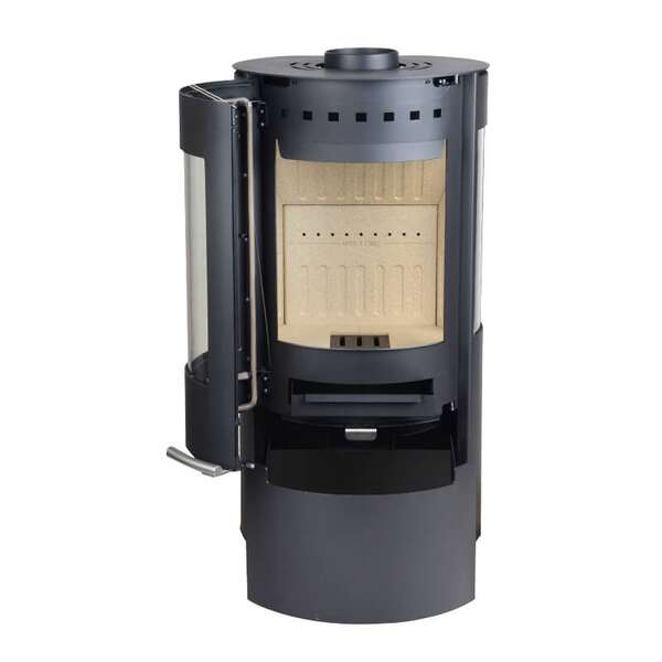 po le bois aduro 9 noir 6 kw chez ofenseite c. Black Bedroom Furniture Sets. Home Design Ideas