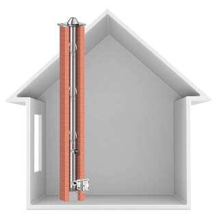 150 mm 11 m schiedel prima plus schornsteinsanierung b. Black Bedroom Furniture Sets. Home Design Ideas